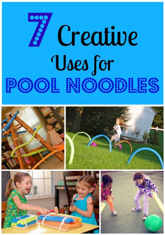 7 Creative Uses For Pool Noodles Activities Crafts For Kids