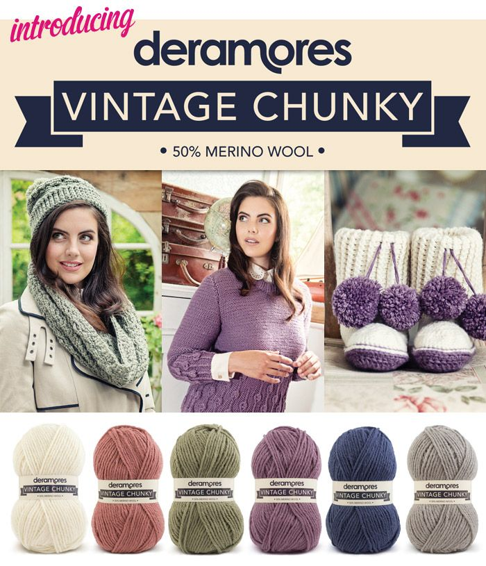 We're super excited to launch our brand new adult collection, Deramores Vintage Chunky!