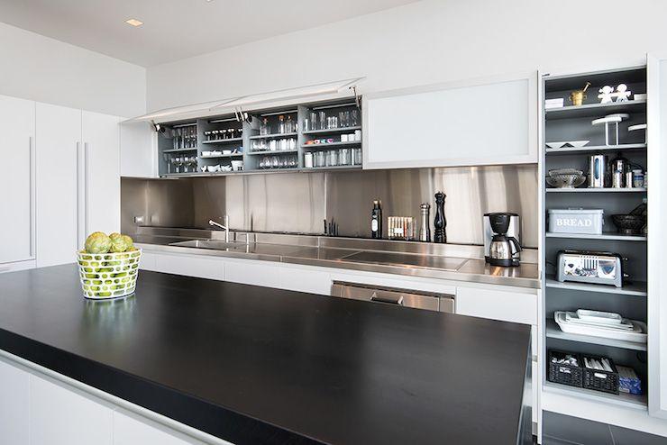 14 Ideas For A Kitchen Backsplash White Modern Kitchen Kitchen Design Design Your Kitchen