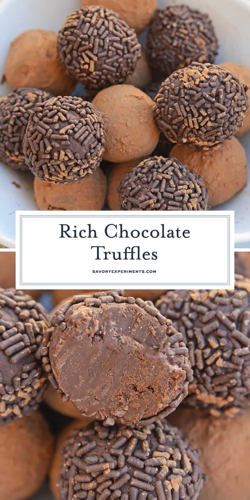 Easy Chocolate Truffles Only Use 4 Ingredients Including Sweetened Condensed Chocolate Truffles Easy Sweetened Condensed Milk Recipes Truffle Recipe Chocolate