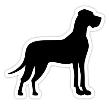 Great Dane Sticker By Designzz Great Dane Puppy Great Dane