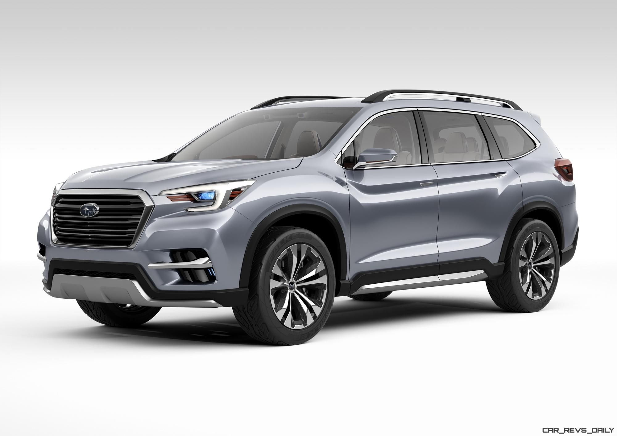 2017 Subaru Ascent Concept Is Jumbo 7 Seater Outback Headed To Showrooms Next Year Car Shopping Car Revs Daily Com Subaru Suv 3rd Row Suv Suv