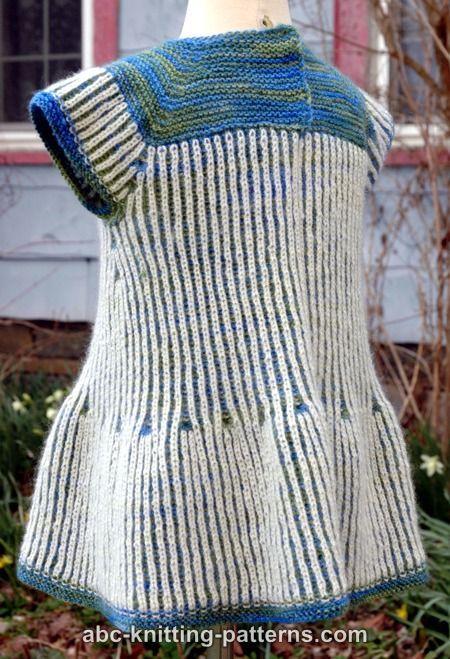 ABC Knitting Patterns - Seamless Brioche Girl Dress | Brioche Stitch ...