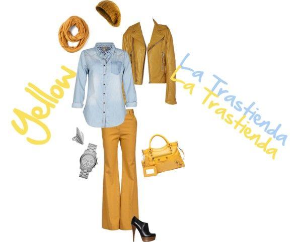 """Yellow"" by luz-carpio-moda on Polyvore"