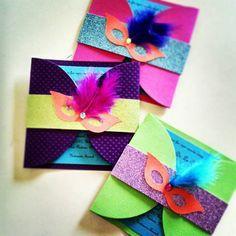 Tarjetas Neon 15 Años Card Invitaciones De Fiesta