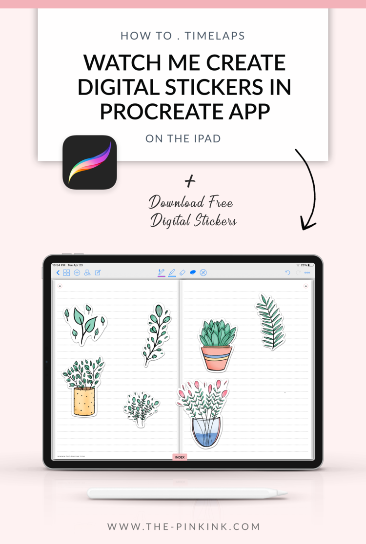 How to create Digital Stickers in Procreate app — Digital Planner – The Pink Ink Shop