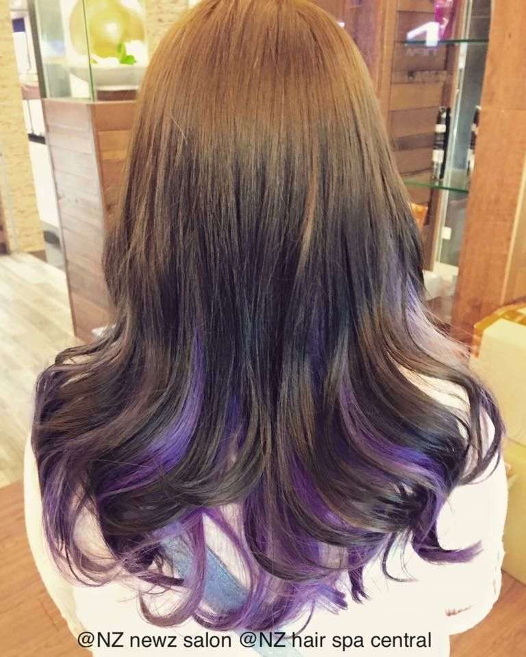 Balayage Ombre Two Tones Inner Opals Blue Balayage Ombre Dip Dye Hair Color Newz Salon Nz Frizzy Hair Treatment Dip Dye Hair Hair Care Products Professional