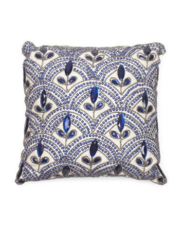 12x12 Martine Beaded Pillow College Dorm Pinterest