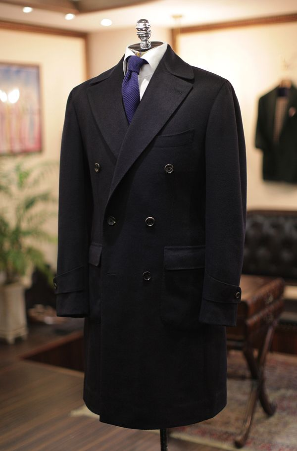 e7975a664 Polo Coat by B&Tailor in Joshua Ellis navy cashmere100 | Uomo Haute ...