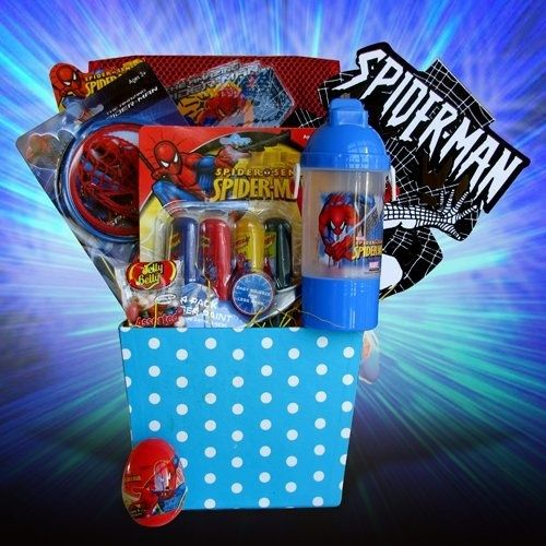Easter gift baskets for boys spiderman by gift basket 4 kids easter gift baskets for boys spiderman by gift basket 4 kids http negle Images