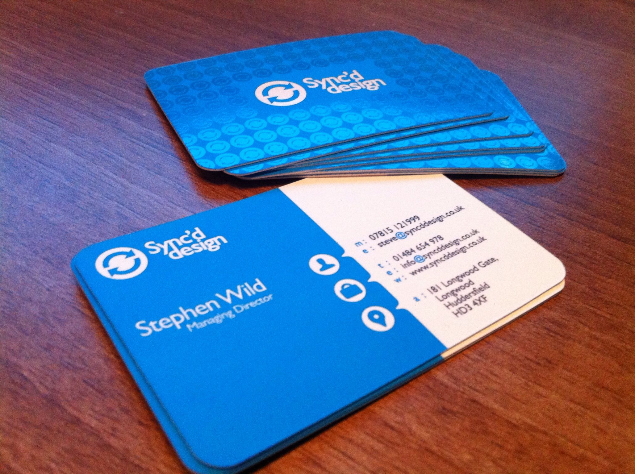 our new business cards spot uv with rounded corners