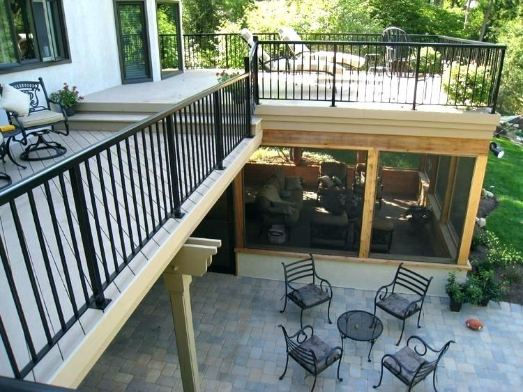 Screened In Porch Under Deck Screen Porch Dry Roof Under Deck Sliding Doors Screened Porches Deck Screening Ideas Under Sc Porch Design Decks And Porches Patio