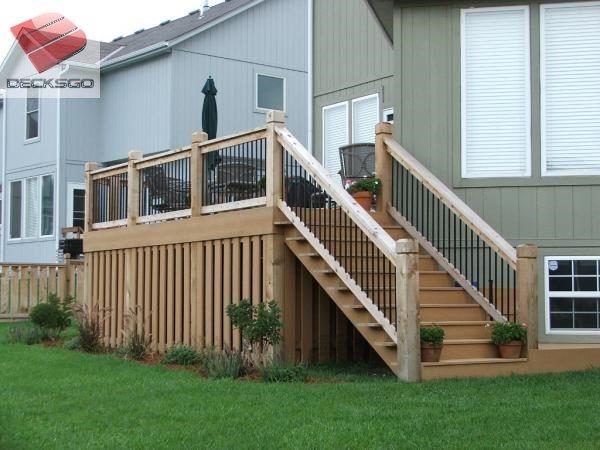 Mid Height Deck Photo Lattice Deck Deck Skirting
