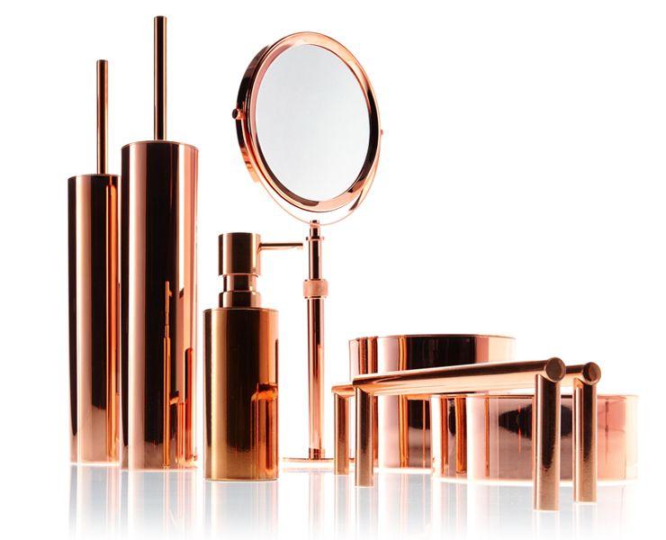 Copper Bath Accessories By Walther Decor DECOR WALTHER GMBH - Copper bathroom accessories sets for bathroom decor ideas
