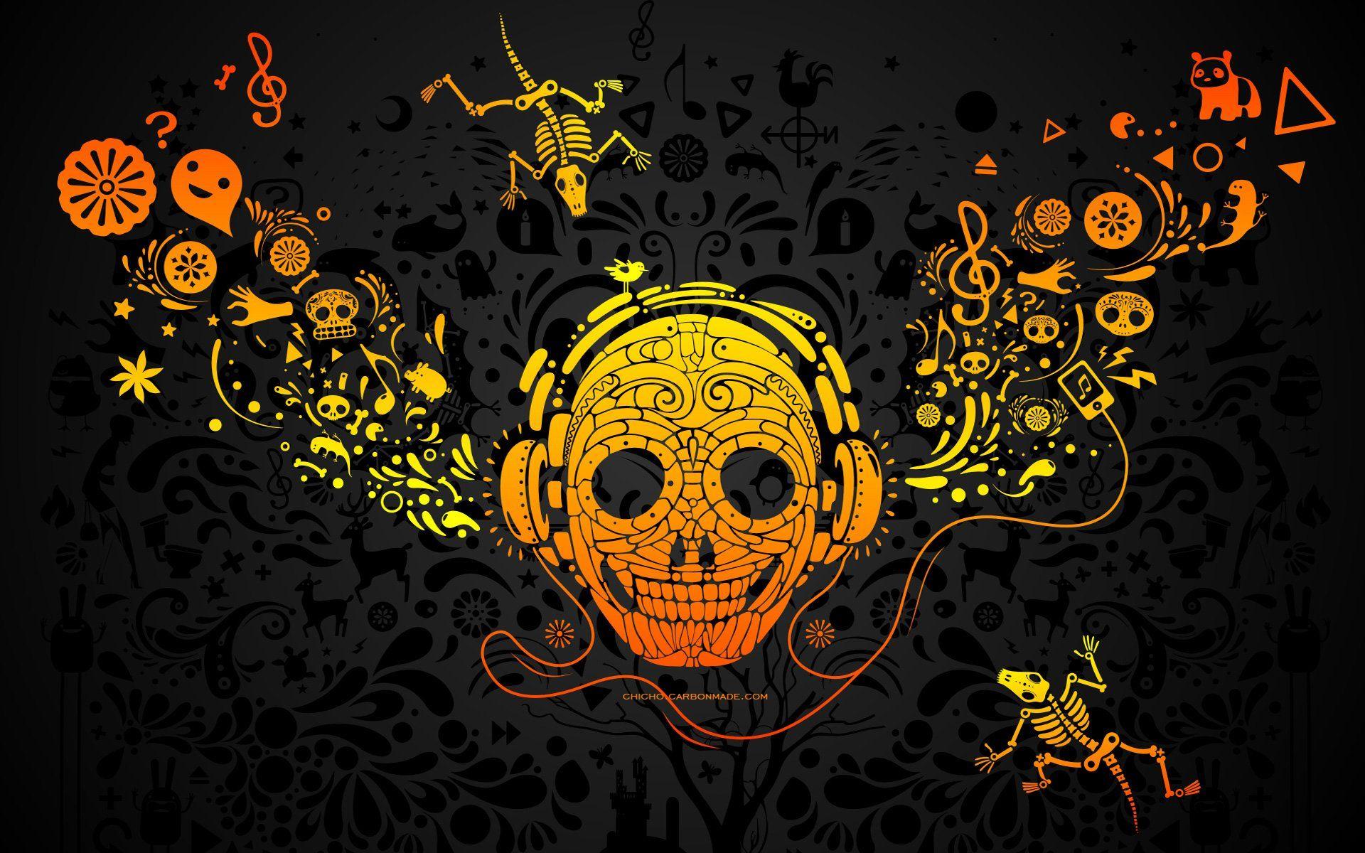 Day Of The Dead Skull Wallpaper Walldevil Best Free Hd Desktop