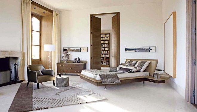 Vrijstaand bed in een moderne slaapkamer | Interiors | Pinterest