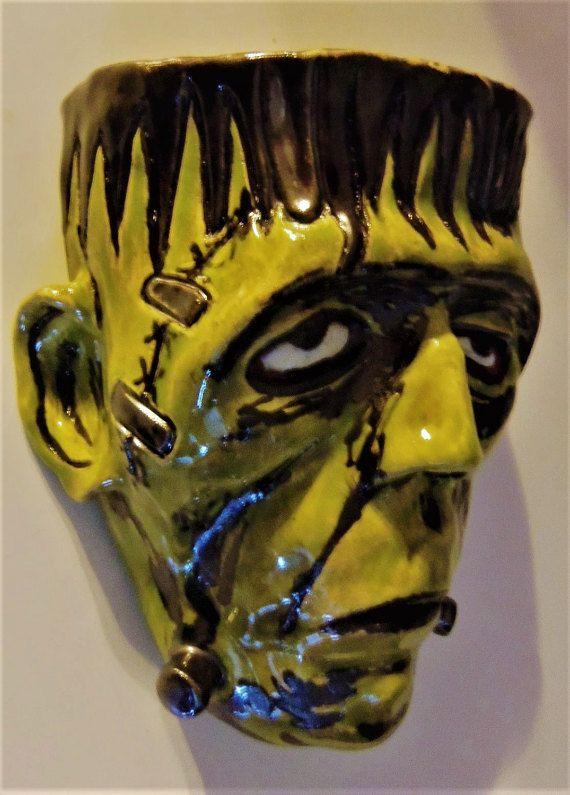 Frankenstein\'s Monster-Sculptural Wall Pocket. Ceramics & pottery ...