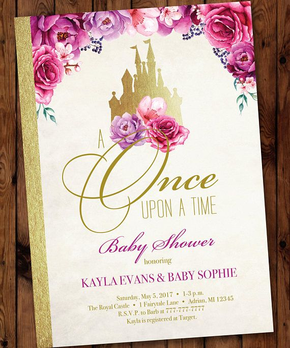 storybook invitation princess baby shower invitation once upon a