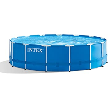 Amazon Com Intex 15ft X 48in Metal Frame Pool Set With Filter Pump Ladder Ground Cloth Pool Cover Garden Outdoor In 2020 Portable Pools Pool Cover Intex