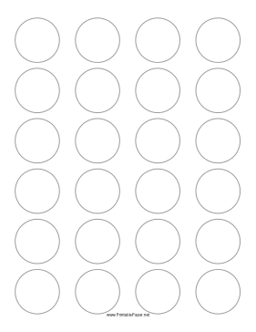 Printable Round Label 1 5 Inches Diameter Circle Labels Printable Label Templates Round Labels