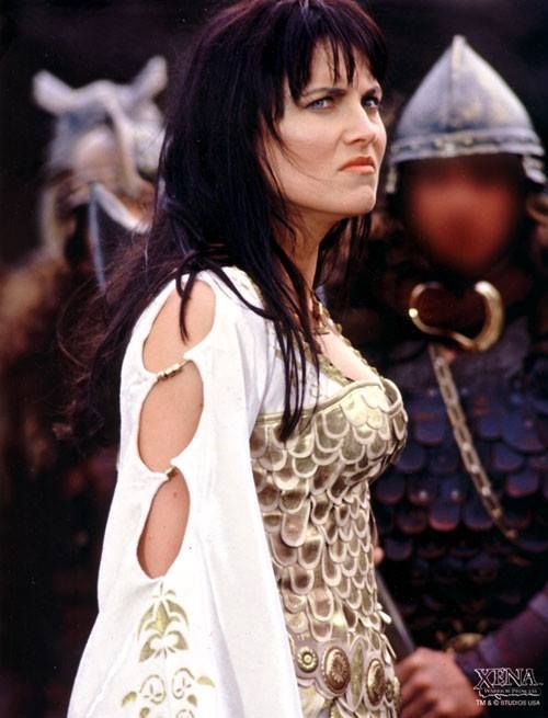 Xena in her norseman wedding dress in episode the ring for Last season wedding dresses