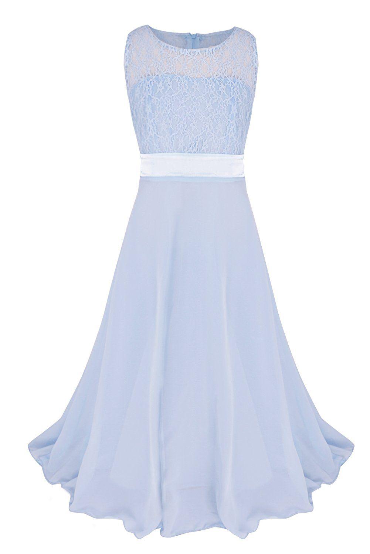 YiZYiF YiZYiF Festliches Mädchenkleid Lange Brautjungfern Kleider