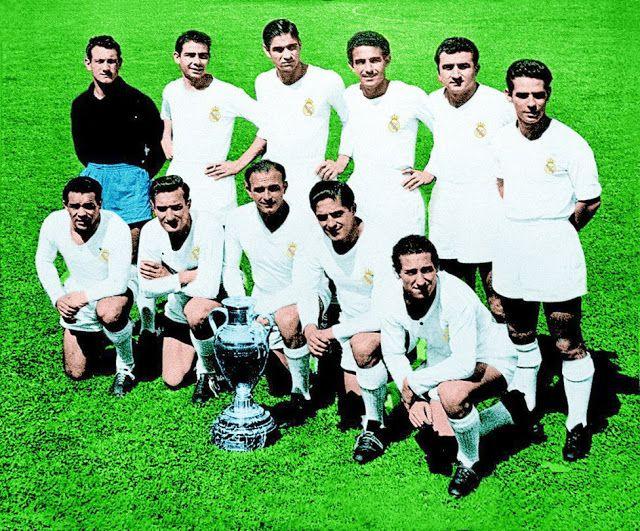 Real Madrid Contra Stade De Reims 13 06 1956 Campeón De Europa Real Madrid Madrid Team Pictures
