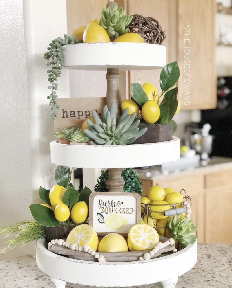 Inspiring Tiered Tray Style Ideas for Spring and Easter - Montana Vintage Market #tieredtraydecor