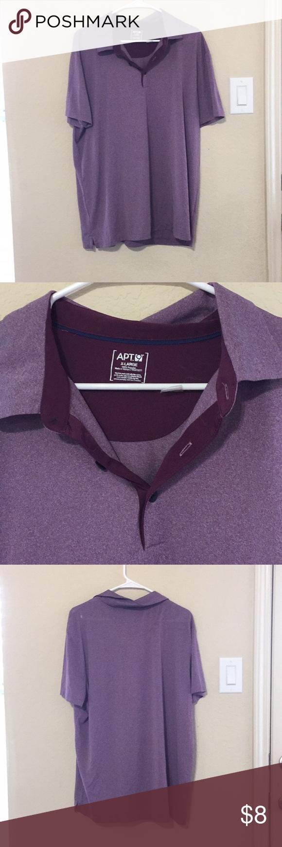 Apartment 9 polo tshirt purple ish colored shirt Apartment 9 ...