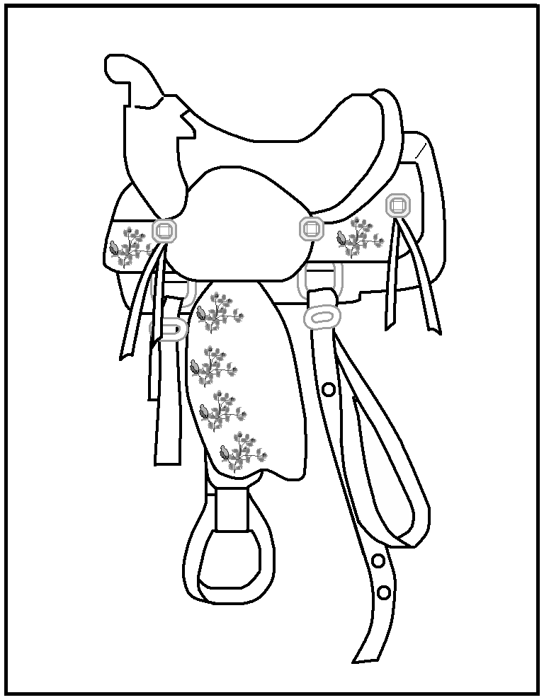 Free coloring pages of rodeo | Cowboy quilt, Horse quilt ...
