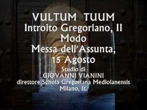 VULTUM  TUUM, Introito Gregoriano, Studio di Giovanni Vianini, Milano, It.