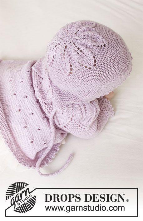 Pink Petals Hat / DROPS Baby 33-14 - Kostenlose Strickanleitungen von DROPS Design