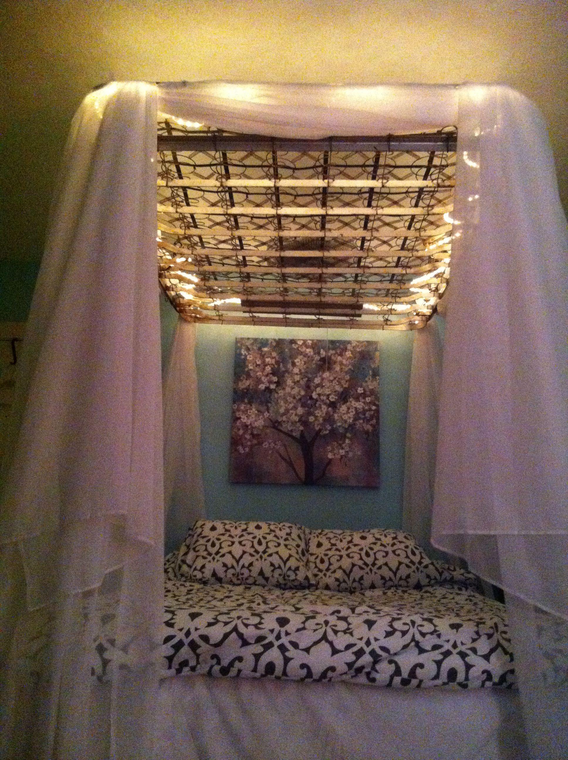 My old box spring canopy. Box spring, Diy canopy, Diy