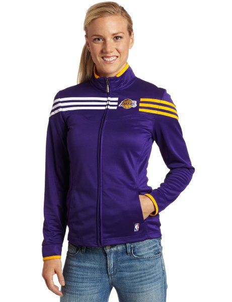 NBA Los Angeles Lakers On-Court Track Jacket Women s Amazon Clothing ... 77e4286f1
