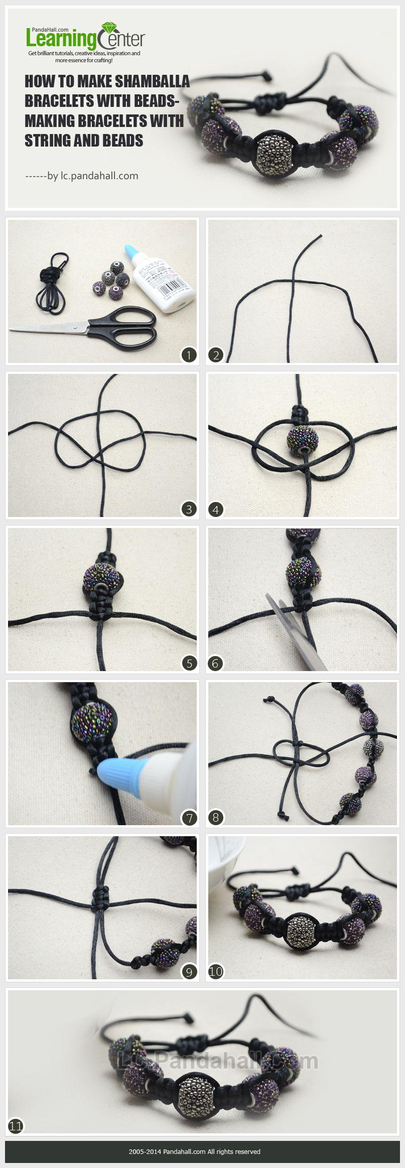 how do i make a cool shamballa style bracelet with