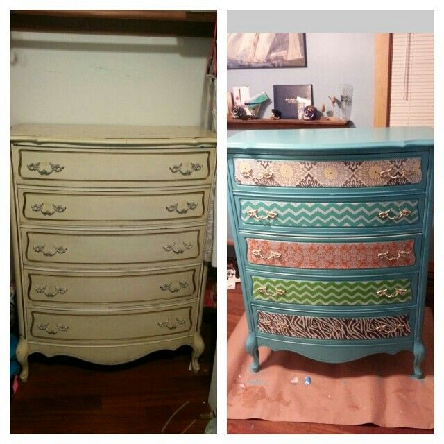 Before and after modpodge fabric dresser makeover | For the Home ...