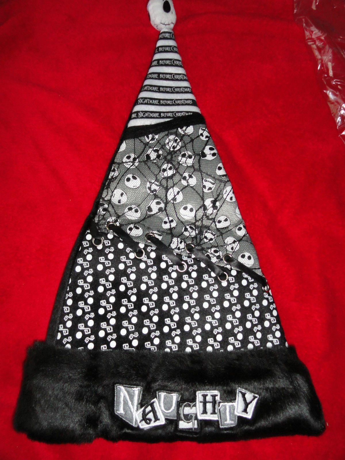 Jack Skellington Nightmare Before Christmas ~ Naughty ~ Cap Hat ...