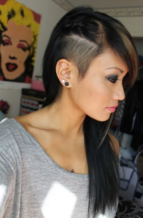 Sidecut With Braids Simple And Beautiful Make Up Hair Nails - Undercut hairstyle diy