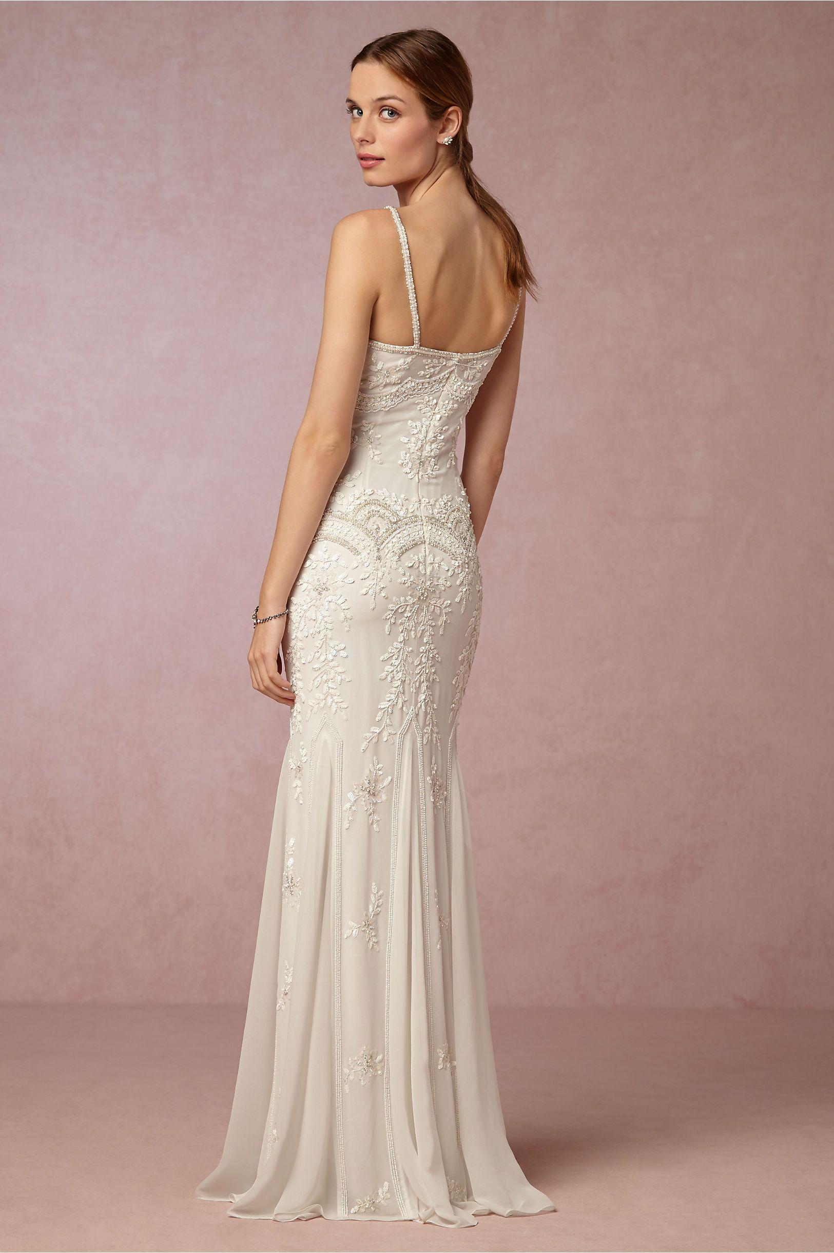 5b560e755a BHLDN Naomi Gown in Beach & Honeymoon   BHLDN   Pram   Wedding ...