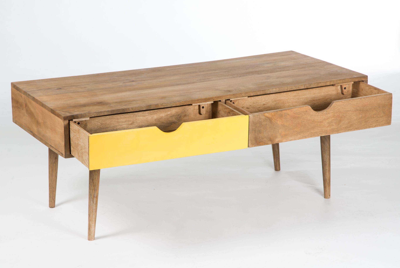table basse scandinave bois 4 tirois meubles scandinaves meubles jaunes pinterest house. Black Bedroom Furniture Sets. Home Design Ideas