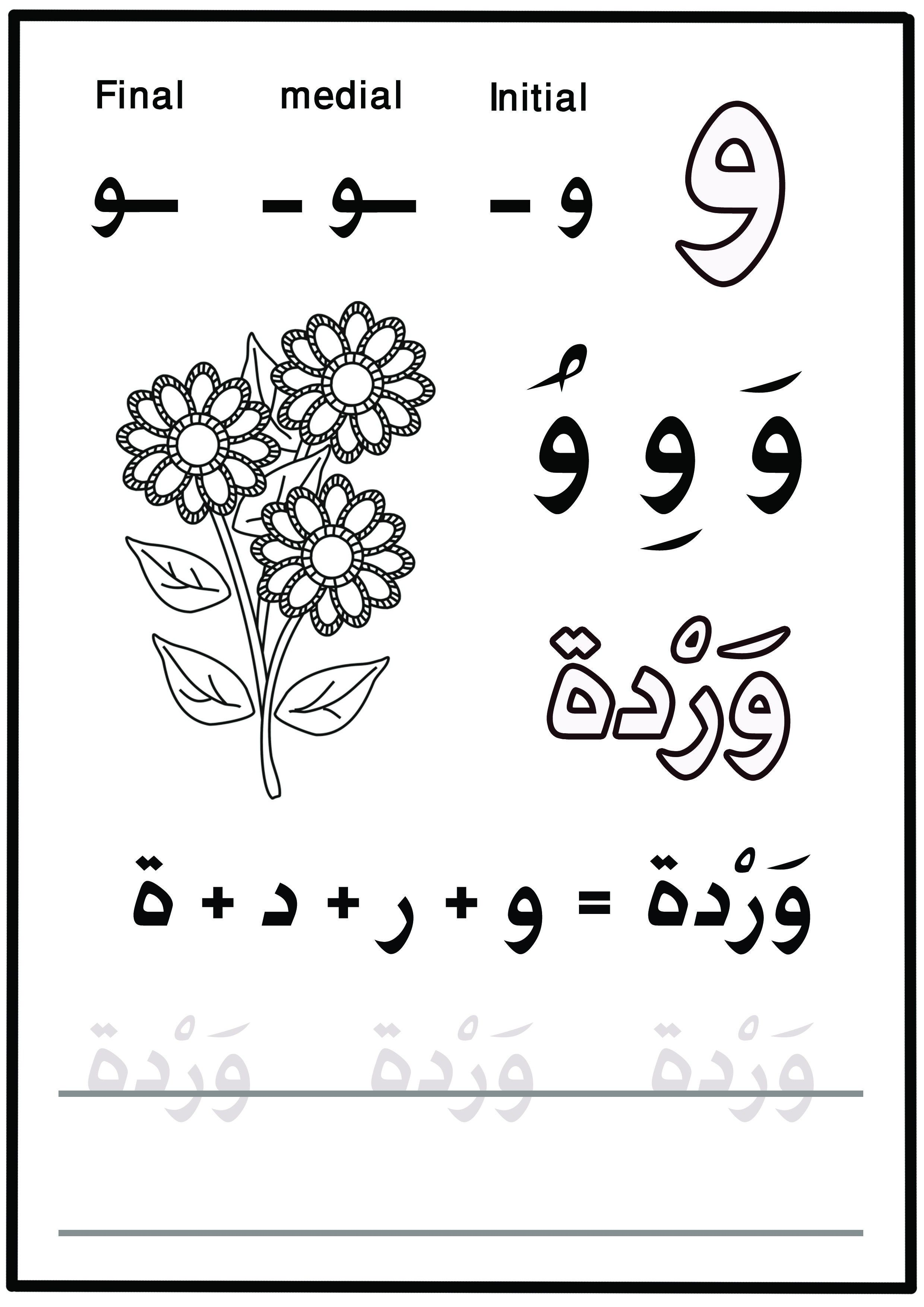 Arabic Writing Worksheet Inspirationa My First Letters
