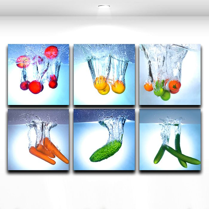 Modern Wall Art Painting Fruit And Vegetable Kitchen Dining RoomRestaurant Decoration Picture On