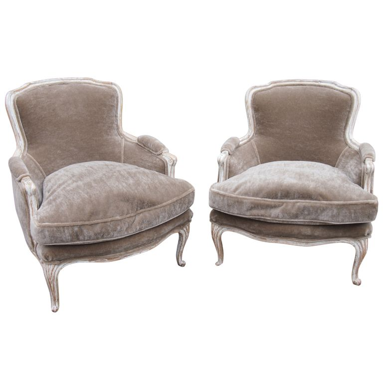 Pair French Louis XIV Bergere chairs in 2019  furniture