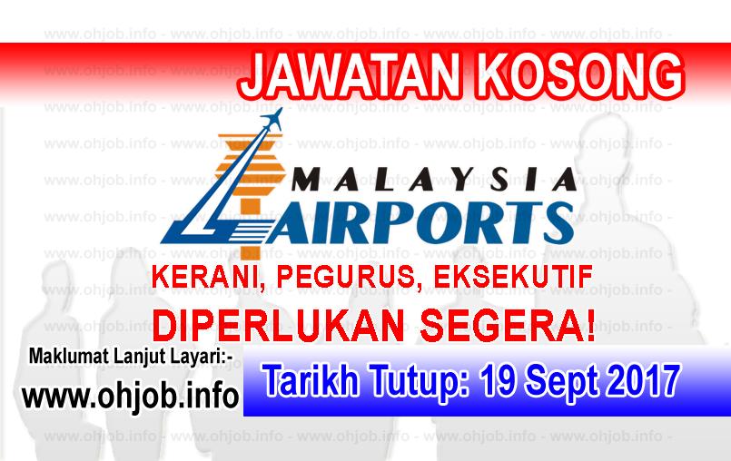 Jawatan Kosong MAHB Malaysia Airports (19 September 2017