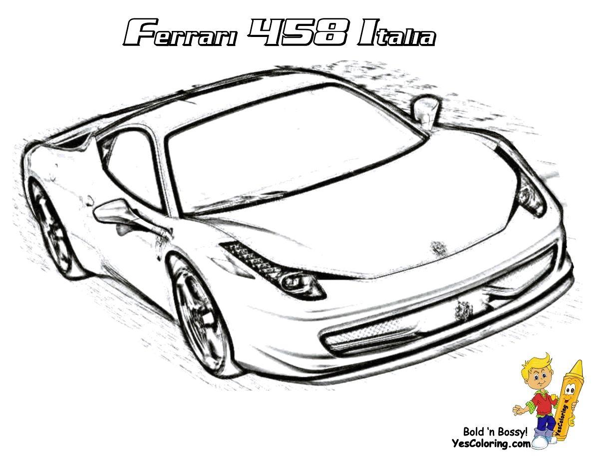 Ferrari 458 Spider Coloring Pages