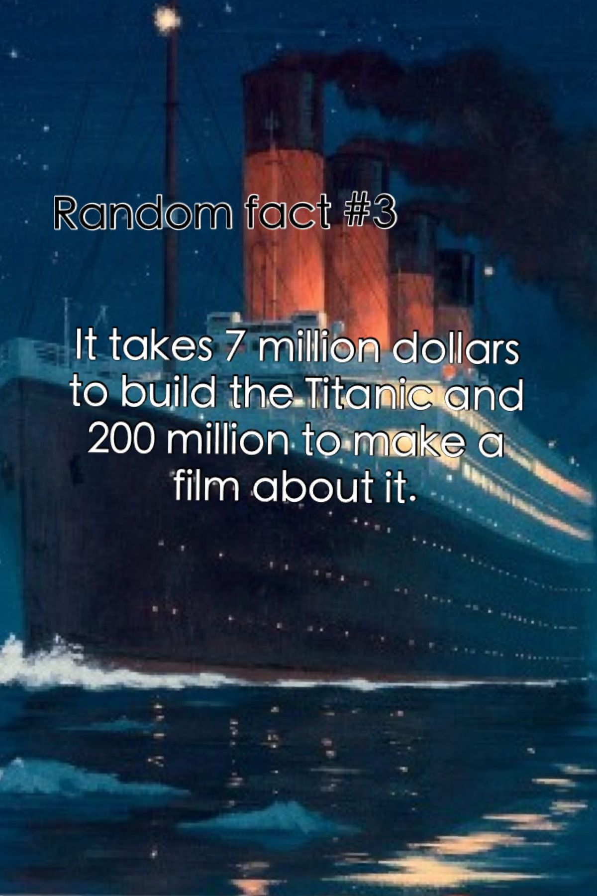 Random Fact 3 (also, the movie runs longer than the time