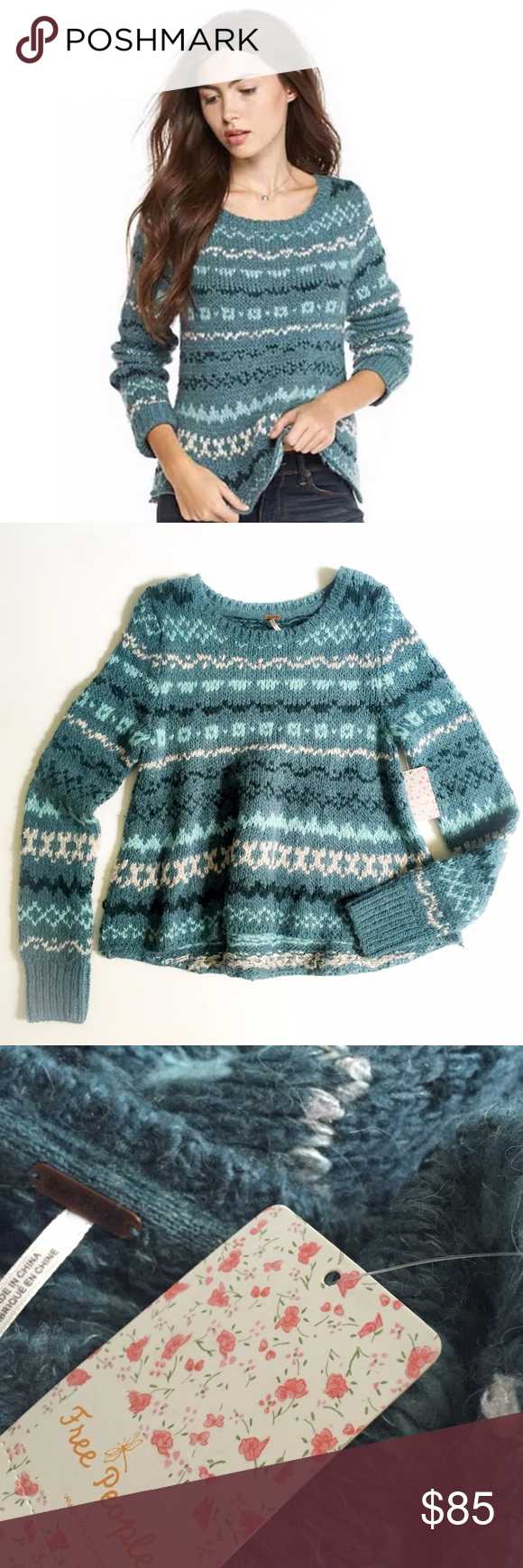 NWT Free People Sweater New With Tags Free People Winter Sweater Free People Sweaters