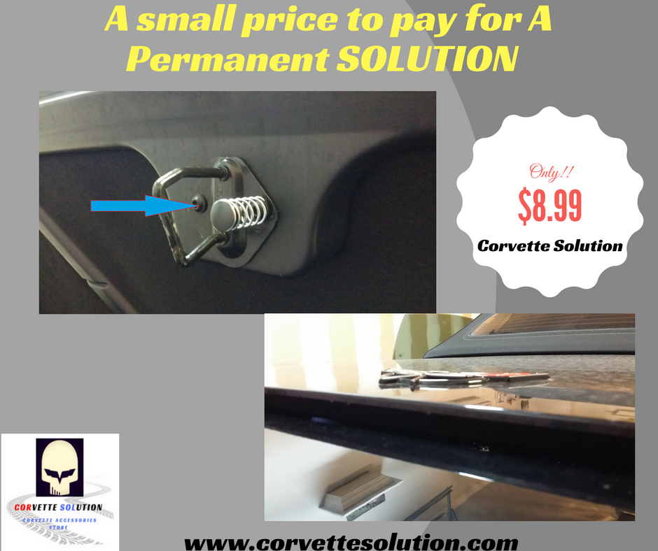 C5 Or C6 Corvette Permanent Solution To Your Trunk Lid Not Fully Opening For Just 8 99 A Small Price To Pay For Big Results Corvette Chevy Corvette Solutions