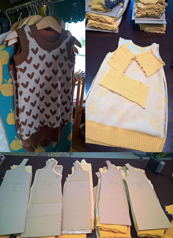 lasten neulostunika. Kaavat, sarjonta (80cm-130cm) ja valmistus Maria Niittymäki Johanna K. Designille