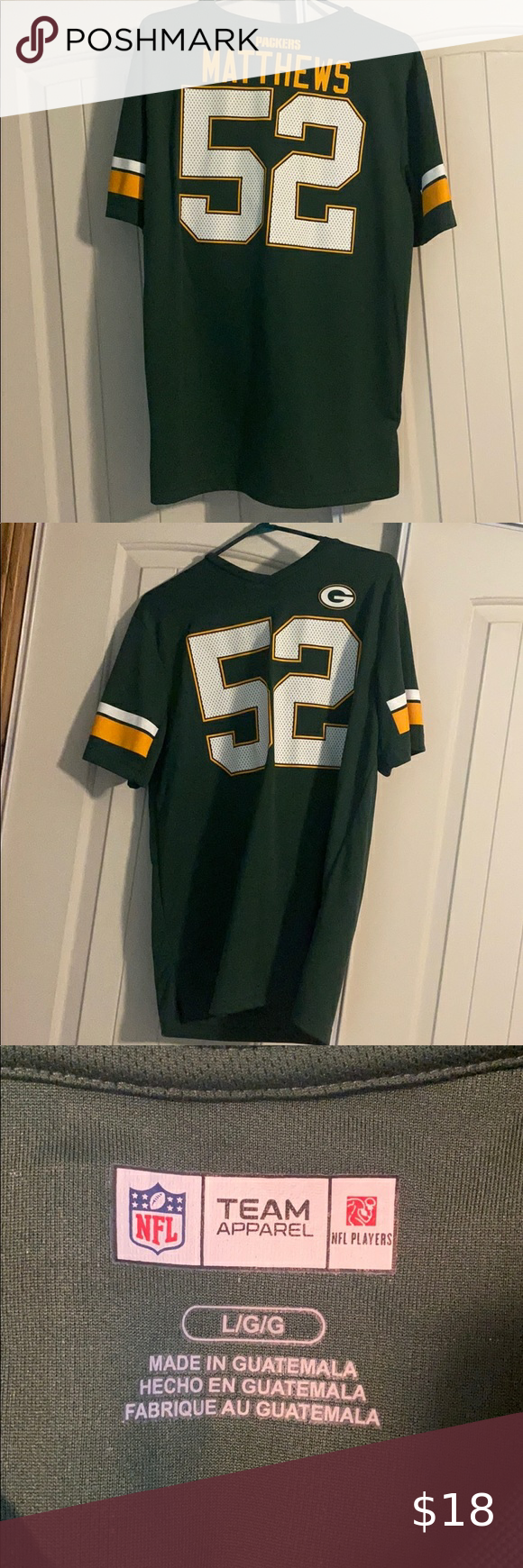 Clay Matthews Green Bay Packer Jersey In 2020 Green Bay Packers Jerseys Nfl Shirts Football Memes Nfl